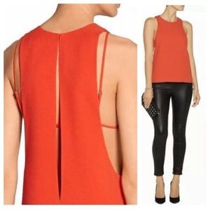 Alexander Wang leyeres stretch -crepe top blouse
